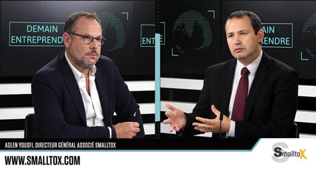 Interview d'Adlen Yousfi DG Smalltox par Jérôme Libeskind le mardi 14 septembre sur Demain TV
