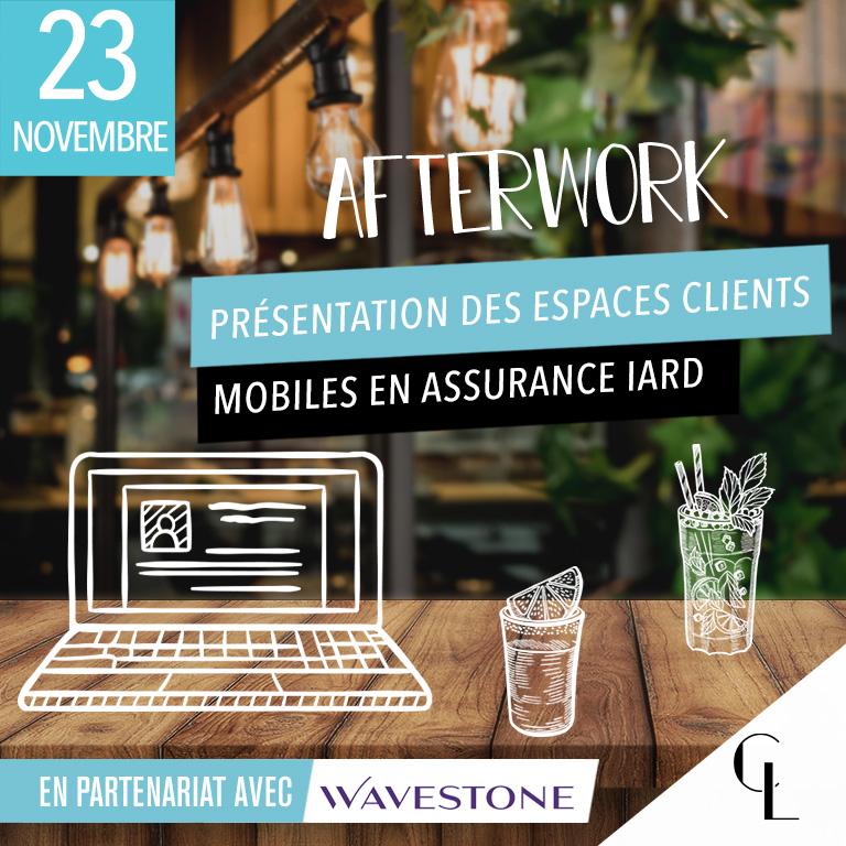 Afterwork - Présentation des espaces clients mobiles en assurance IARD