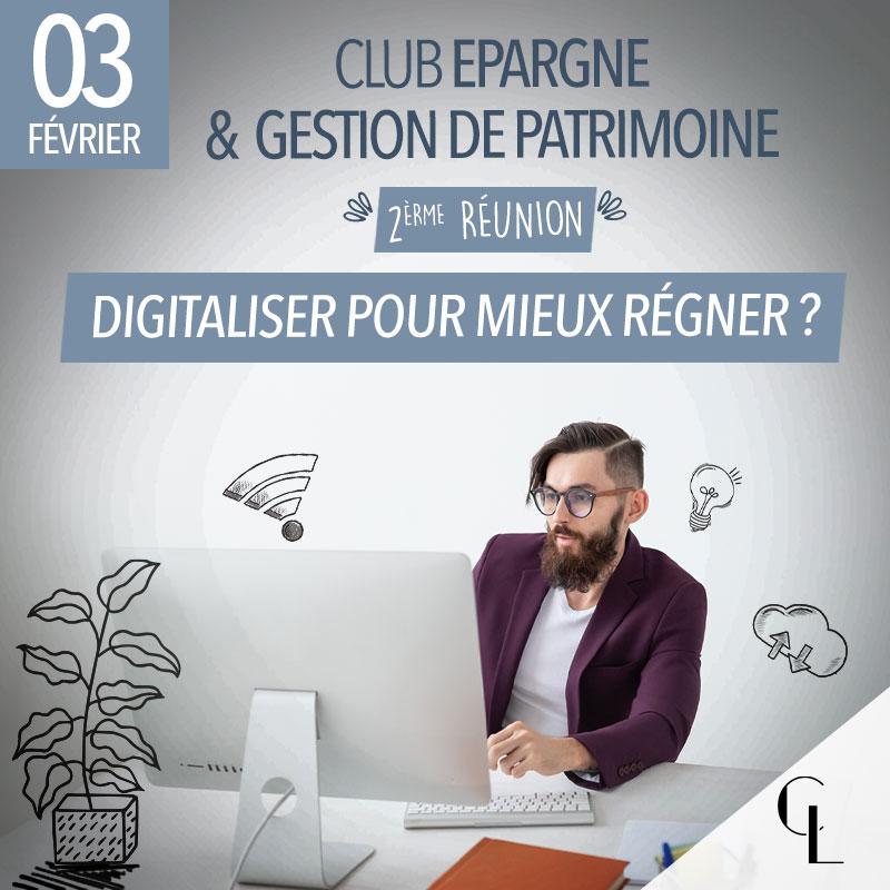 Club Epargne et Gestion de Patrimoine - 2ème réunion, saison 2021/ 2022