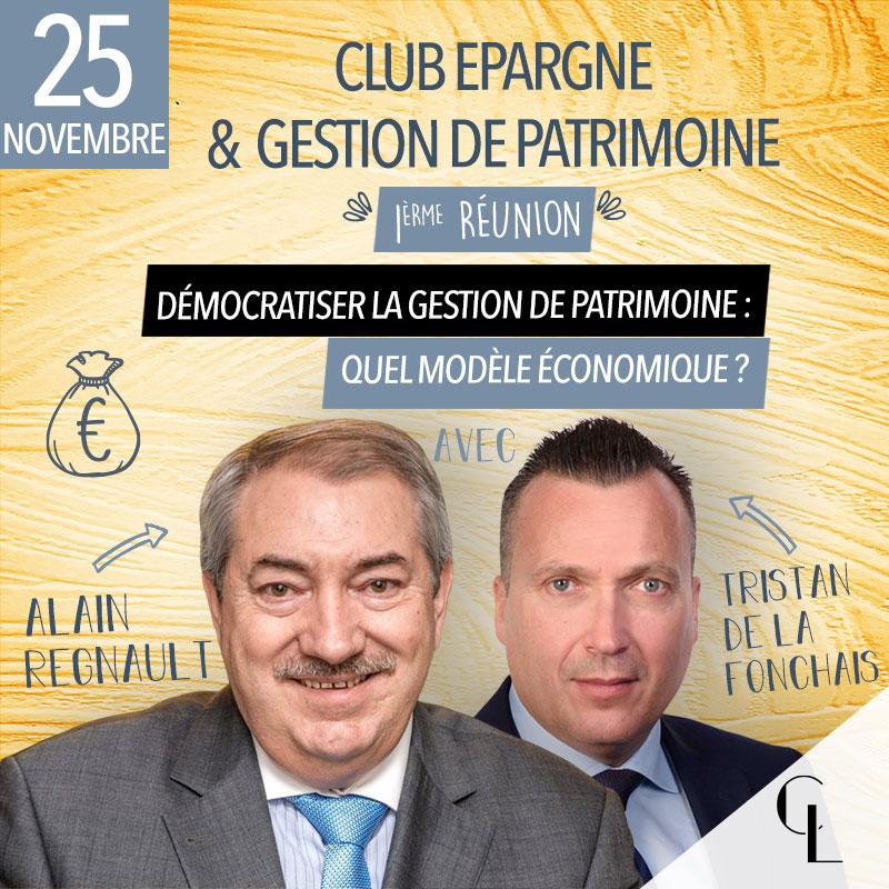 Club Epargne et Gestion de Patrimoine - 1ère réunion, saison 2021/2022